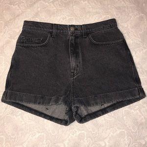 Never Worn High Waisted Black Denim Shorts